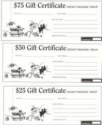 $25 CRICKET Gift Certificate
