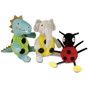 Ladybug and Friends Plush 3-Doll Set